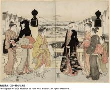 鳥居清長 《日本橋の往来》
